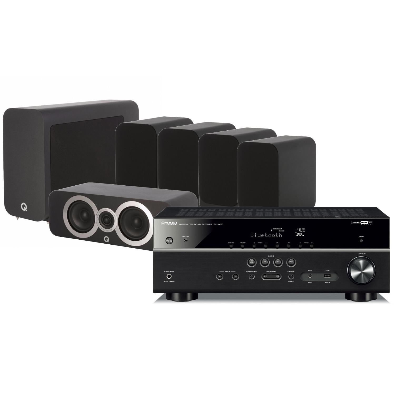 Yamaha RX-V485 AV Receiver with Q Acoustics 3010i Cinema Pack
