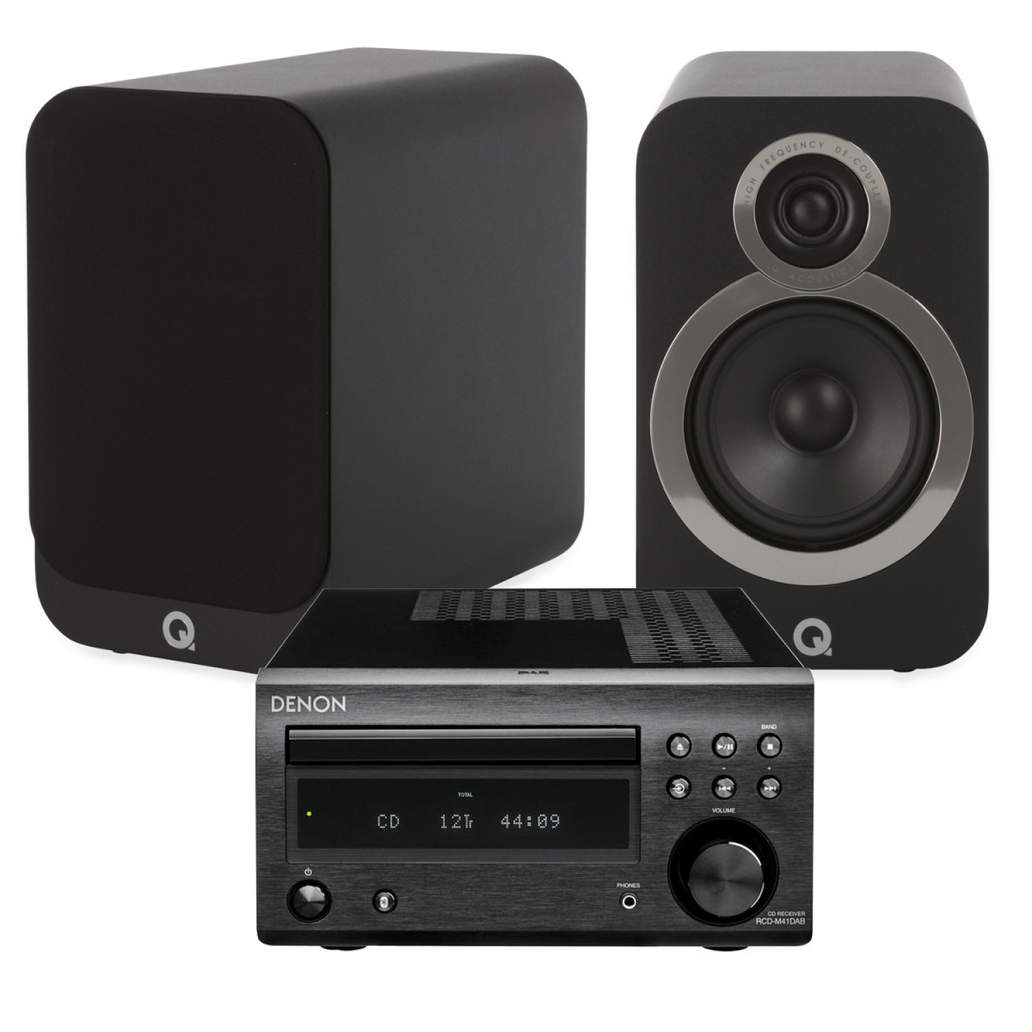 Denon D M41DAB Hi Fi System With Q Acoustics 3020i Bookshelf Speakers
