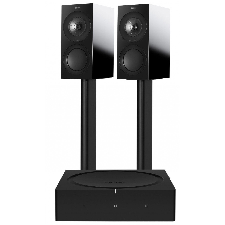 Sonos Amp with KEF R3 Bookshelf Speakers Speakers