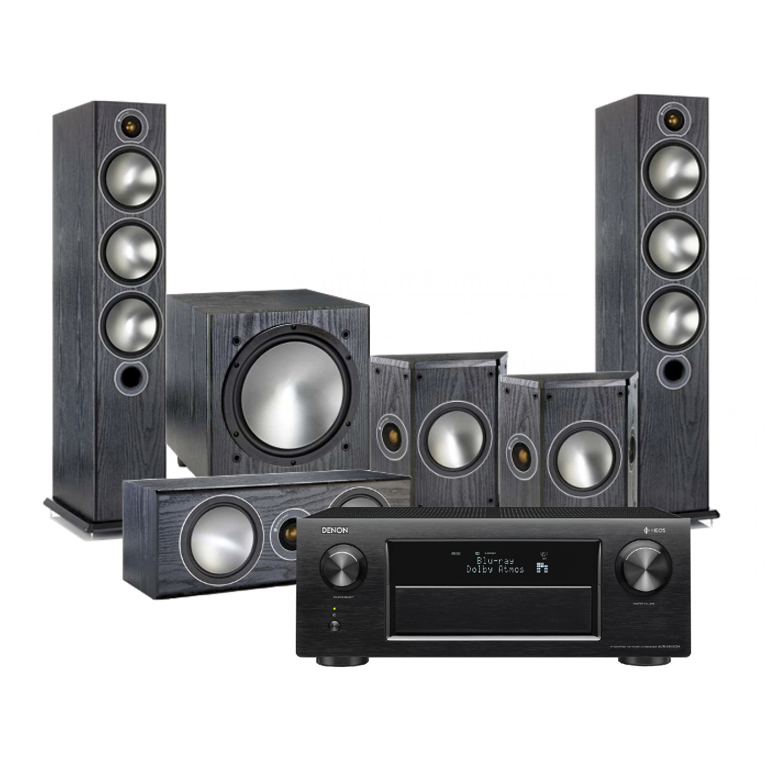Denon AVR-X6400H AV Receiver with Monitor Audio Bronze 6 AV Speakers