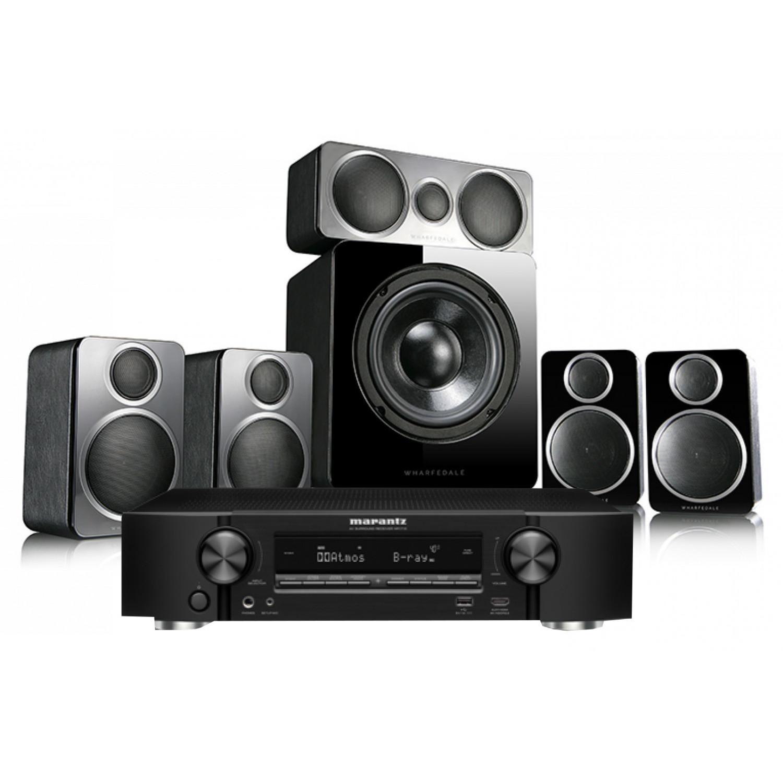 Marantz NR1710 AV Receiver with Wharfedale DX-2 5 1 Speaker Package