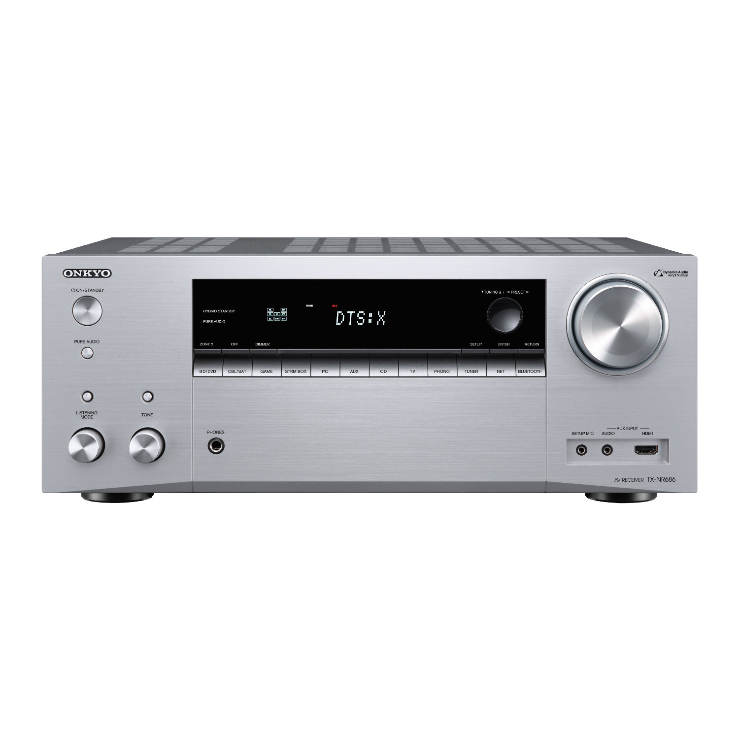 Onkyo Tx Nr686 Network Av Receiver With Pre Outs On Wiring Diagram For Powered Subwoofer Black Silver
