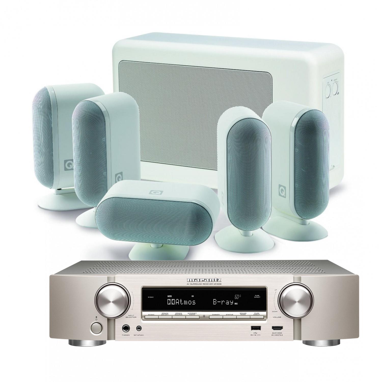 Marantz NR1609 Slim 5.2 Channel AV Receiver with Q Acoustics 7000i ...