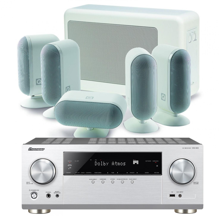 Pioneer VSX-933 AV Receiver with Q Acoustics 7000i Slim 5.1 Speaker Pack