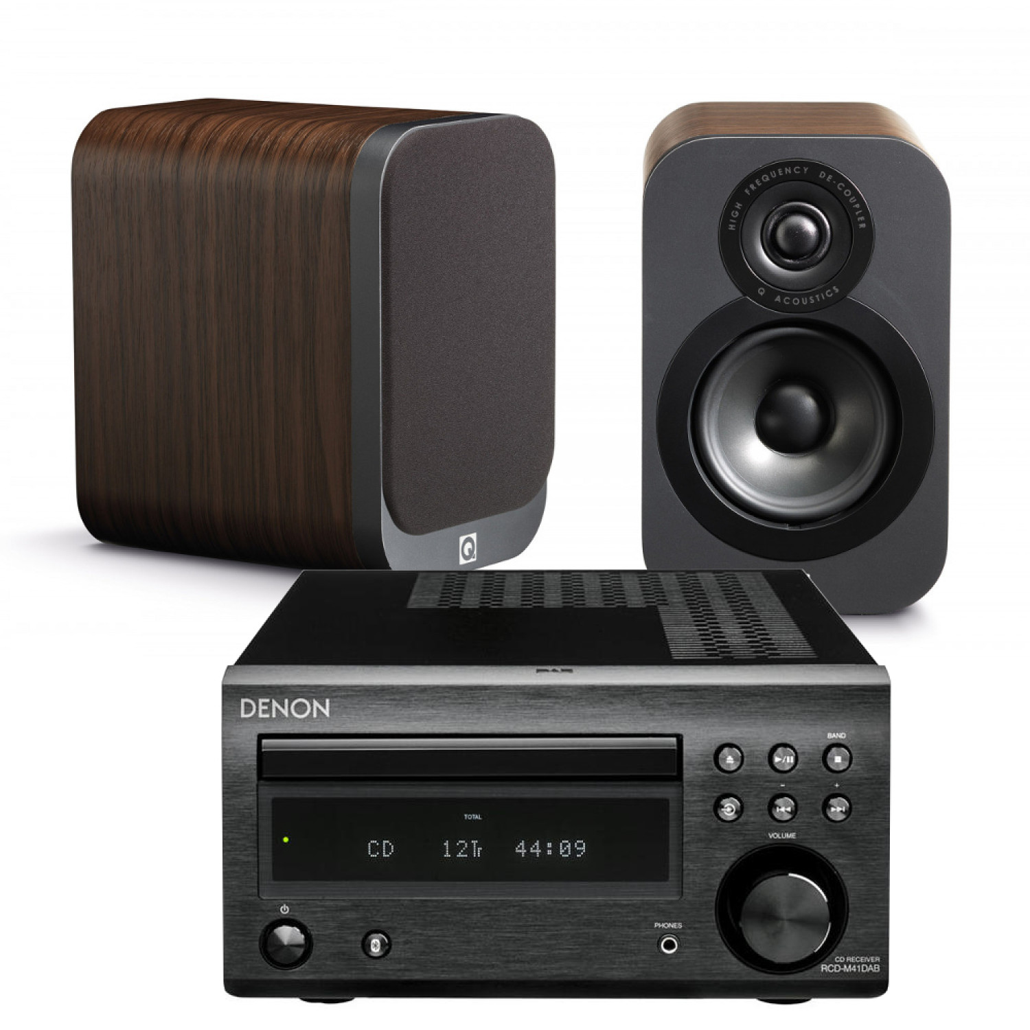 Denon D M41dab Hi Fi System With Q Acoustics 3010 Speakers