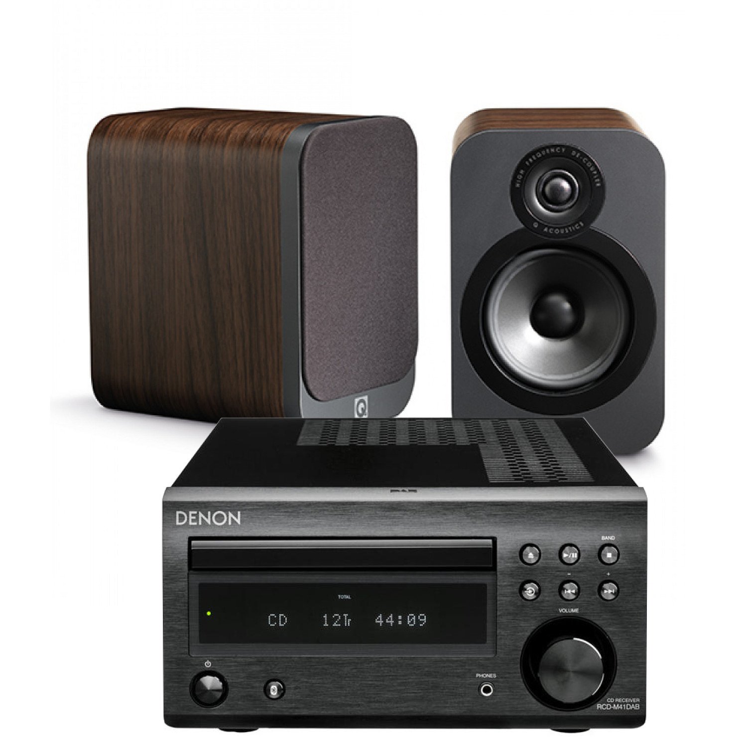 denon d m41dab hi fi system with q acoustics 3020 speakers. Black Bedroom Furniture Sets. Home Design Ideas
