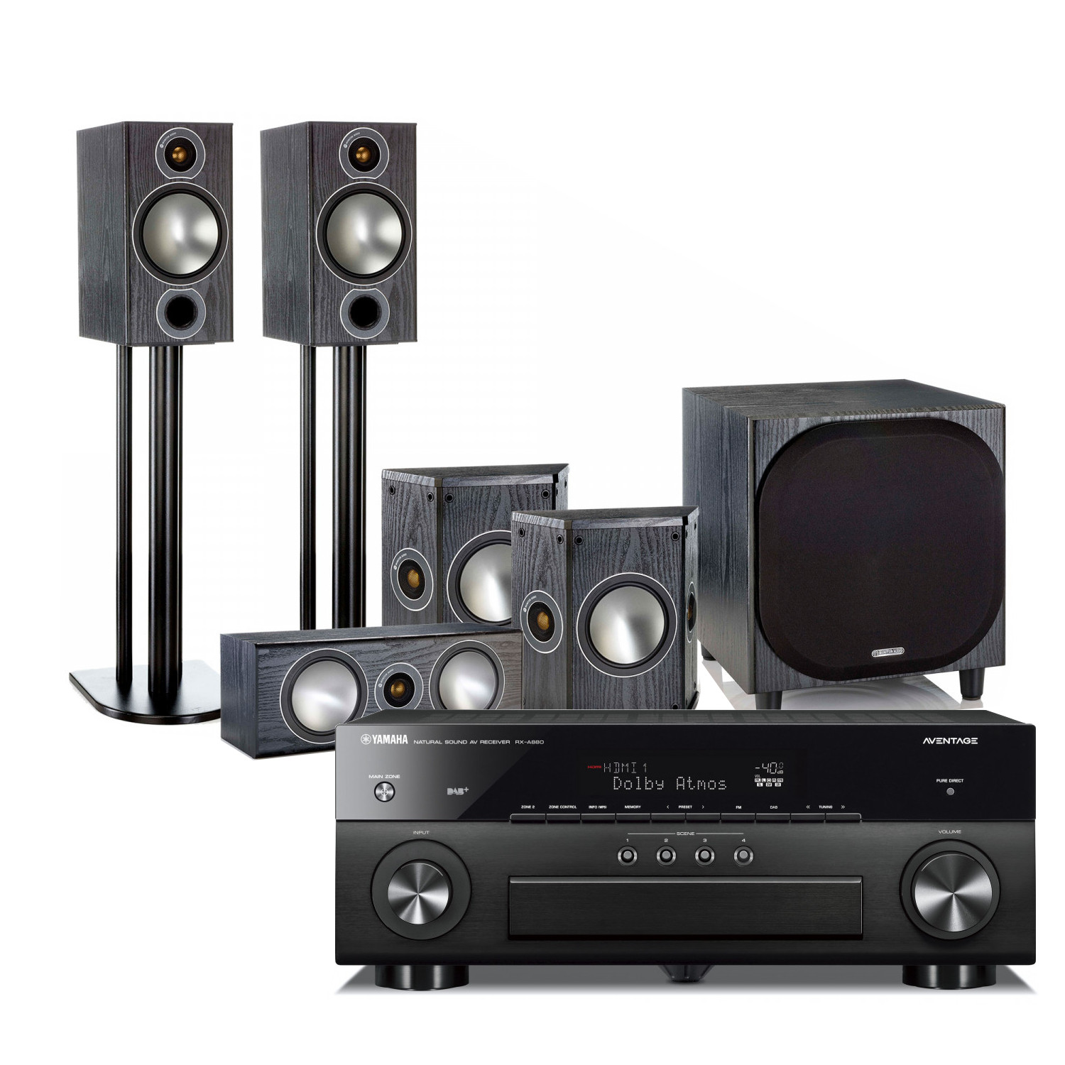 Yamaha RX-A880 Aventage 7 2 Channel AV Receiver with with