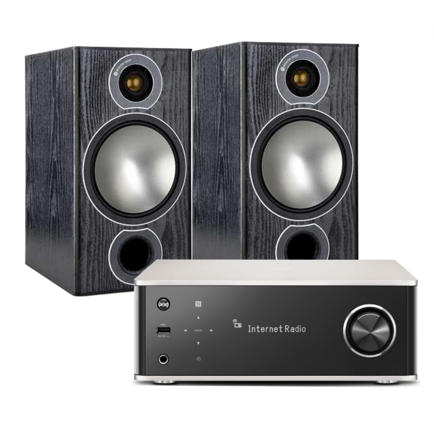 Denon Dra 100 With Monitor Audio Bronze 2 Speakers W Hi Fi Power Amplifier Circuit Design