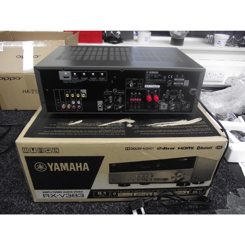 Open Box Yamaha Rx V383 51 Channel Av Receiver Titanium Ref 620557 Audio Enhancement For Analog Amplifier