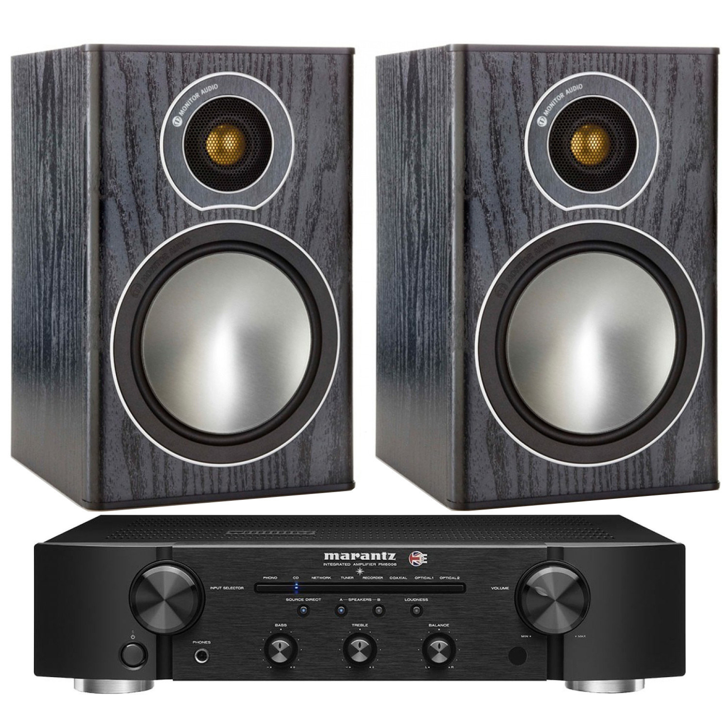 Marantz PM6006 UK Edition with Monitor Audio Bronze 1 Speakers