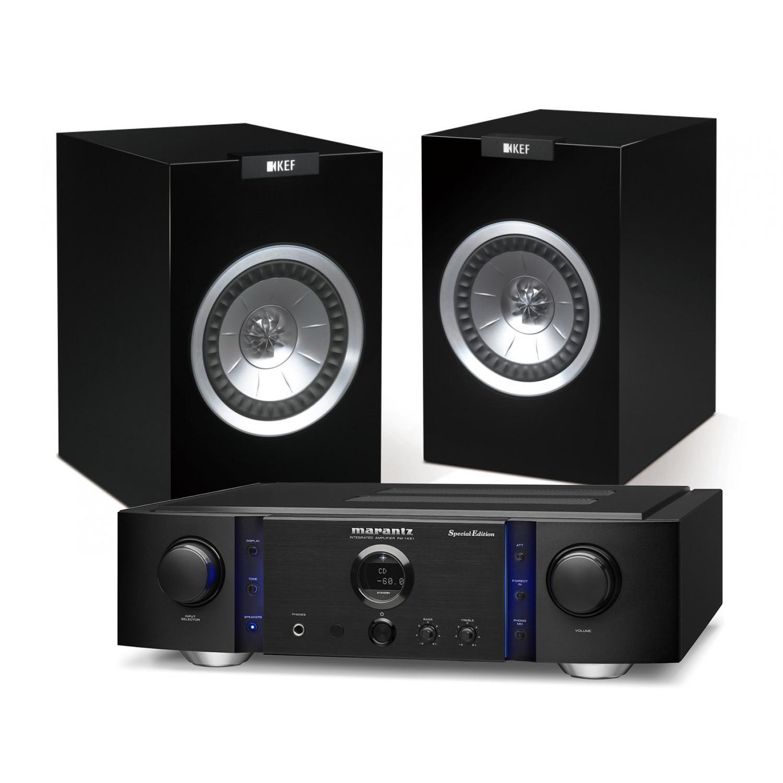 Marantz PM 14S1 SE Hi Fi Amplifier With KEF R100 Bookshelf Speakers