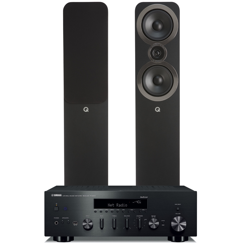 Yamaha R N602 Amplifier With Q Acoustics 3050i Floorstanding