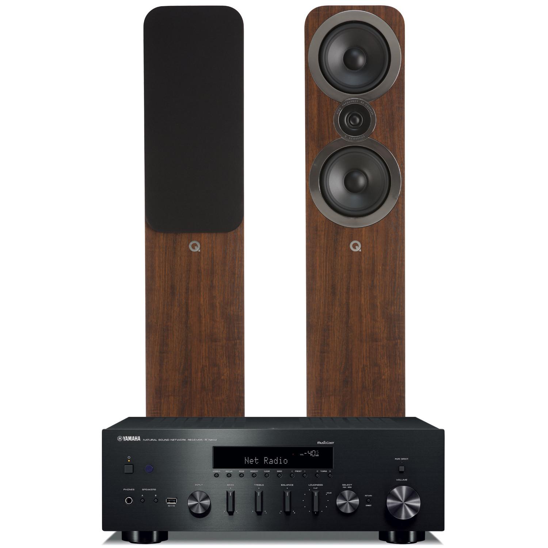 yamaha r n602 amplifier with q acoustics 3050i. Black Bedroom Furniture Sets. Home Design Ideas