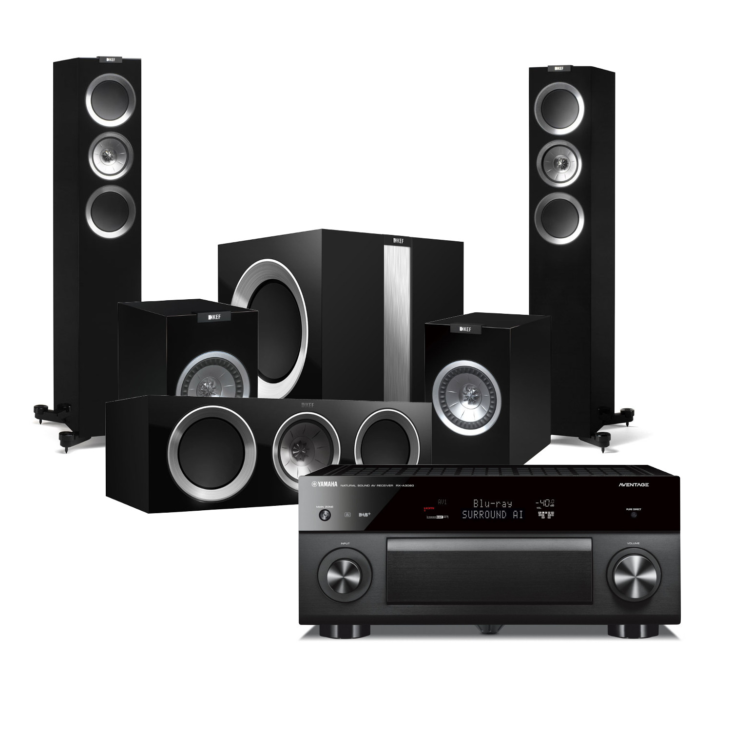 Yamaha Rx A3080 Aventage 9 2 Channel Av Receiver With Kef
