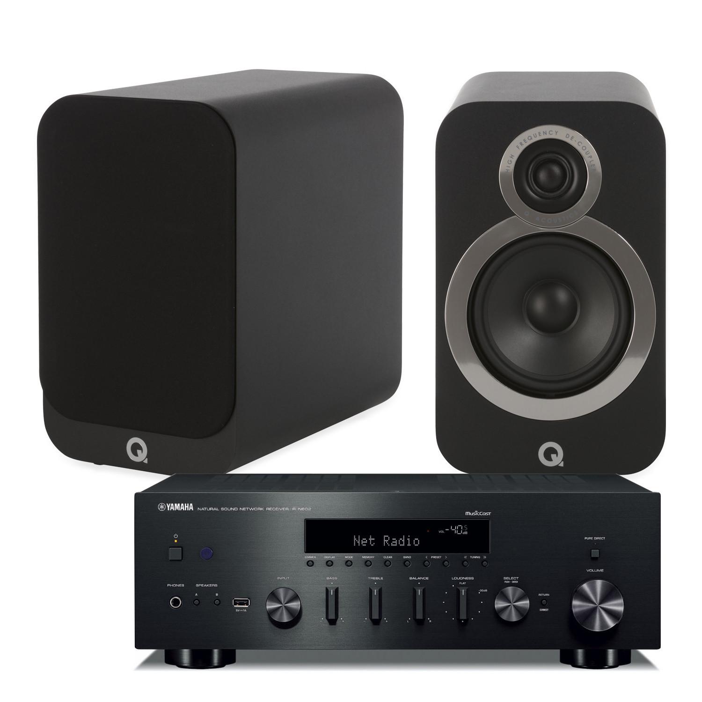 yamaha r n602 amplifier with q acoustics 3020i. Black Bedroom Furniture Sets. Home Design Ideas