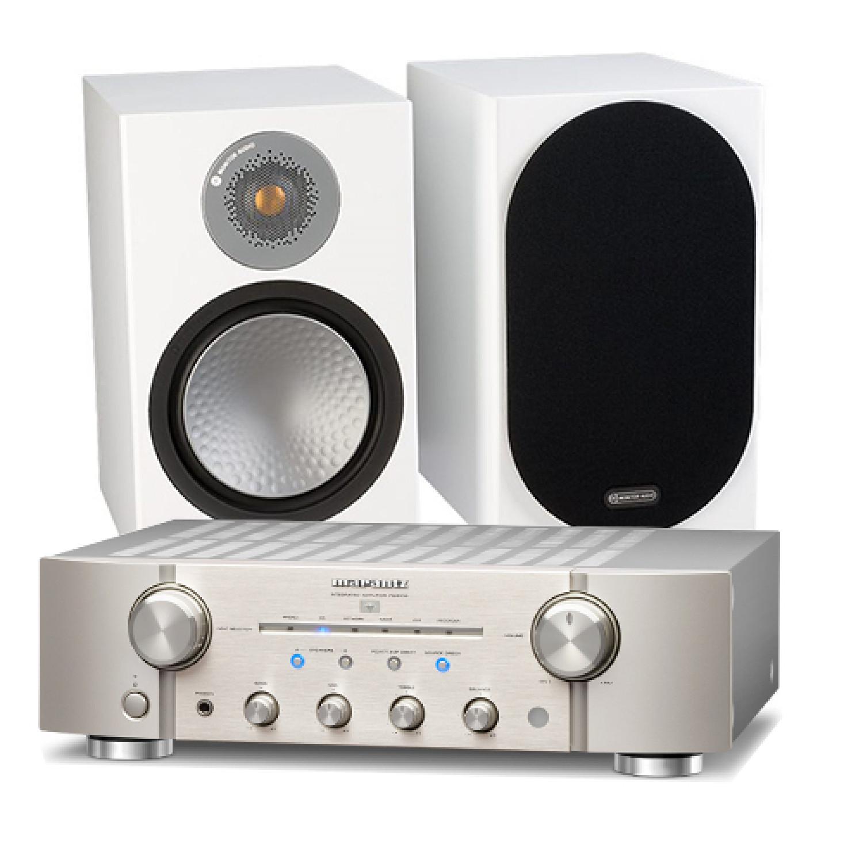 Marantz Pm8006 Hifi Amplifier With Monitor Audio Silver