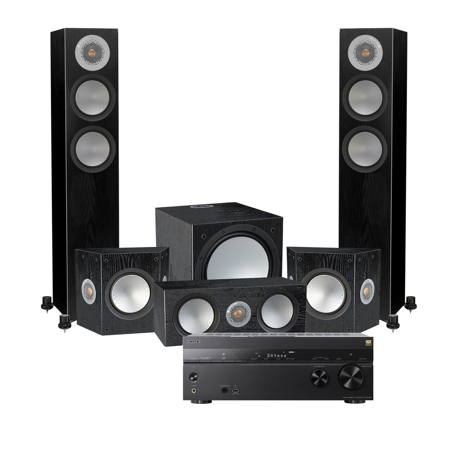 sony str dn1080 with speakers
