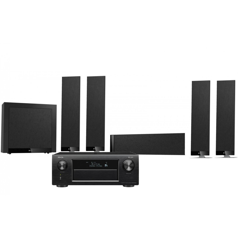 Denon AVR-X6400H AV Receiver with KEF T305 AV Speakers