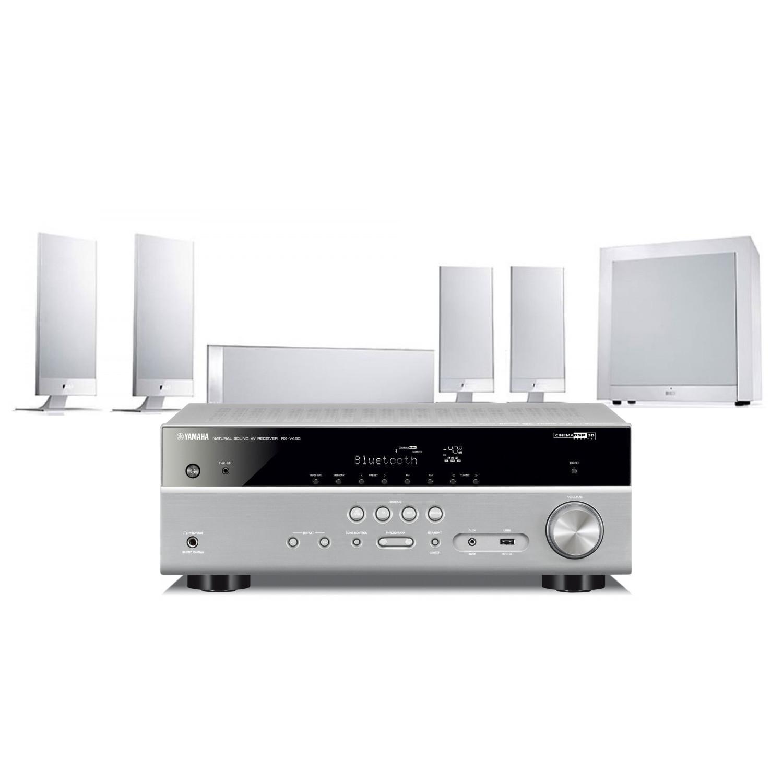 Yamaha RX-V485 AV Receiver with KEF T105 AV Speakers