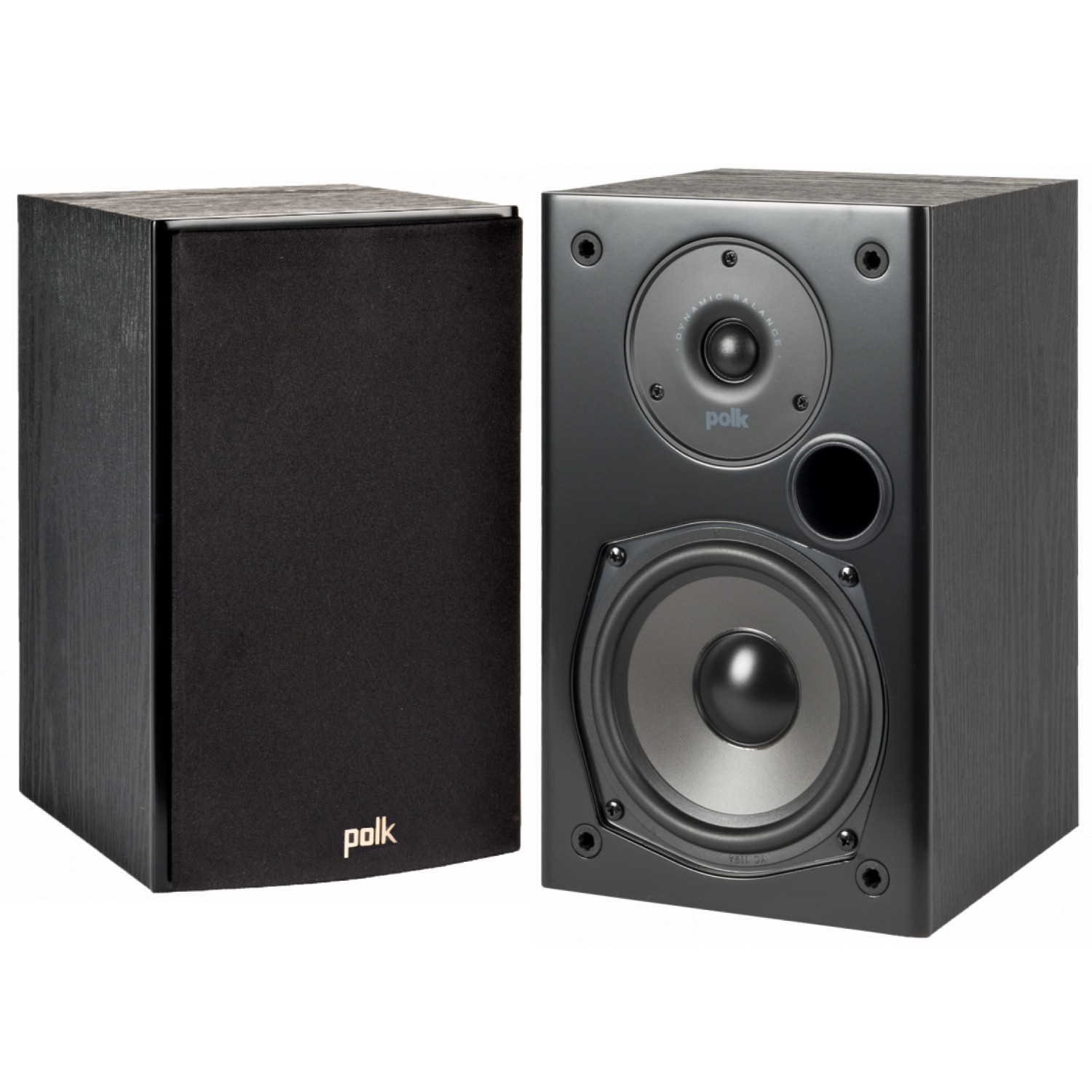 bookshelf pin polk speakers way subwoofers black audio home new and pair