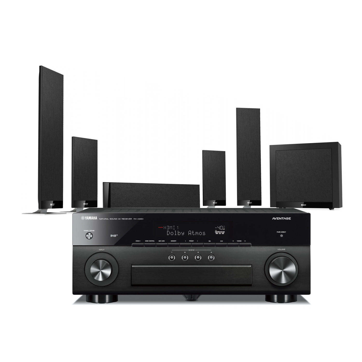 Yamaha RX-A880 Aventage 7 2 Channel AV Receiver with KEF