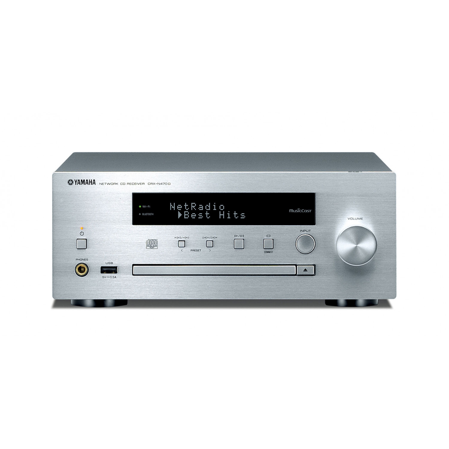 yamaha crx n470d musiccast enabled cd receiver with dab tuner. Black Bedroom Furniture Sets. Home Design Ideas