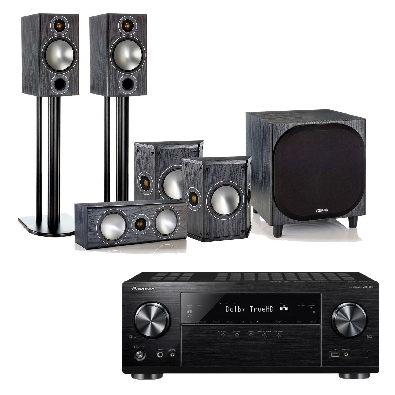 Pioneer VSX-832 AV Receiver with Monitor Audio Bronze 2 AV