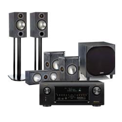 Denon AVR-X4400H AV Receiver with Monitor Audio Bronze 5 AV