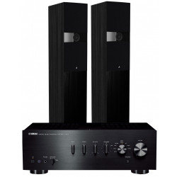 yamaha a s301 integrated amplifier with kef q350 speakers. Black Bedroom Furniture Sets. Home Design Ideas