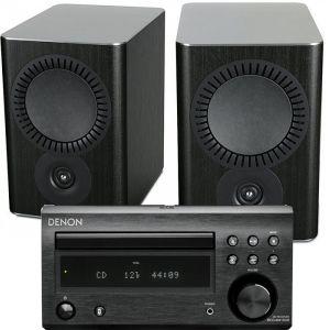 Denon D-M41DAB Hi-Fi System with Mission QX-2 Speakers