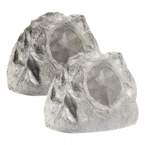 Lithe Audio All-In-One Bluetooth Outdoor Garden Rock Speaker (Pair)