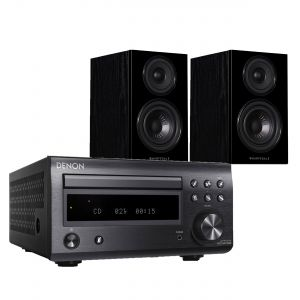 Denon D-M41DAB Hi-Fi System with Wharfedale Diamond 12.2 Bookshelf Speakers