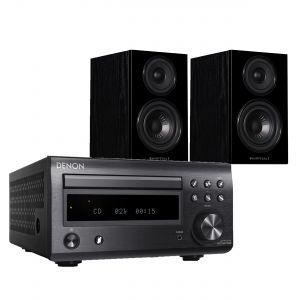 Denon D-M41DAB Hi-Fi System with Wharfedale Diamond 12.1 Bookshelf Speakers