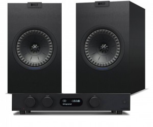 Audiolab 6000A Amplifier with KEF Q150 Bookshelf Speakers