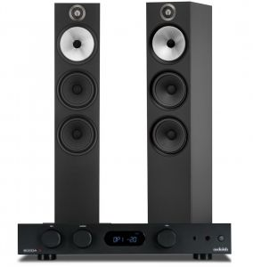 Audiolab 6000A Amplifier with Bowers & Wilkins 603 Floorstanding Speakers