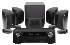 Denon AVR-X1600H AV Receiver with Bowers & Wilkins MT-50 Home Theatre System