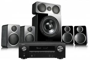 Denon AVR-X1600H AV Receiver with Wharfedale DX-2 5.1 Speaker Package