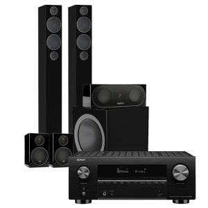 Denon AVC-X3700H Amplifier with Monitor Audio Radius 270 - 5.1 AV Speaker Package