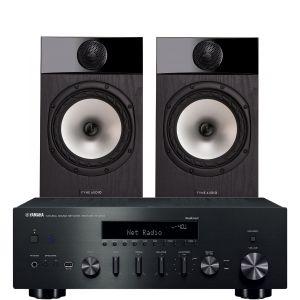 Yamaha R-N602 with Fyne Audio F301 Bookshelf Speakers