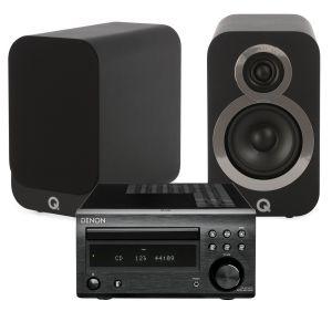 Denon D-M41DAB Hi-Fi System with Q Acoustics 3010i Bookshelf Speakers