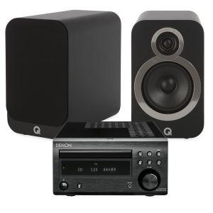 Denon D-M41DAB Hi-Fi System with Q Acoustics 3020i Bookshelf Speakers