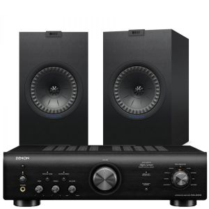 Denon PMA-600NE Integrated Amplifier with KEF Q350 Bookshelf Speakers