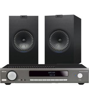 Arcam SA10 Integrated Amplifier with KEF Q350 Bookshelf Speakers