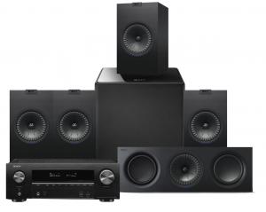 Denon AVR-X1600H AV Receiver with KEF Q350 AV Speaker Pack