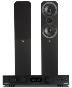 Audiolab 6000A Amplifier with Q Acoustics 3050i Floorstanding Speakers