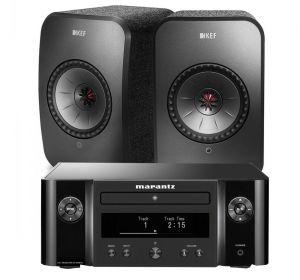 Marantz Melody X. M-CR612 Music System with KEF LSX Wireless Bookshelf Speakers