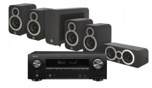 Denon AVR-X1600H AV Receiver with Q Acoustics 3010i Cinema Pack