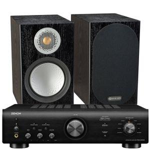 Denon PMA-600NE Integrated Amplifier with Monitor Audio Silver 50 Bookshelf Speakers