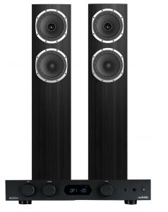 Audiolab 6000A Amplifier with Fyne Audio F501 Floorstanding Speakers