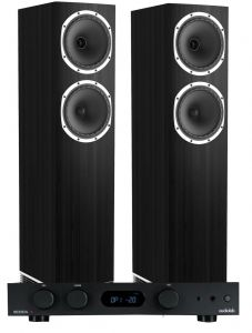 Audiolab 6000A Amplifier with Fyne Audio F502 Floorstanding Speakers